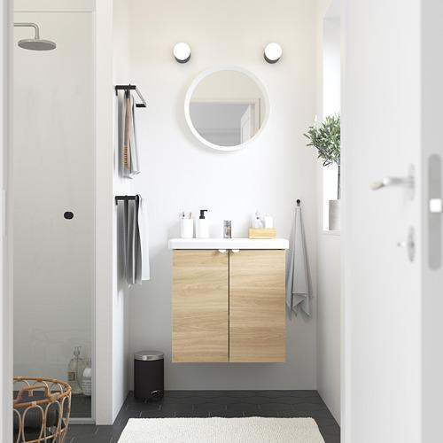 TVÄLLEN/ENHET - wash-basin cabinet with 2 doors, oak effect/white Pilkån tap | IKEA Hong Kong and Macau - PE785832_S4