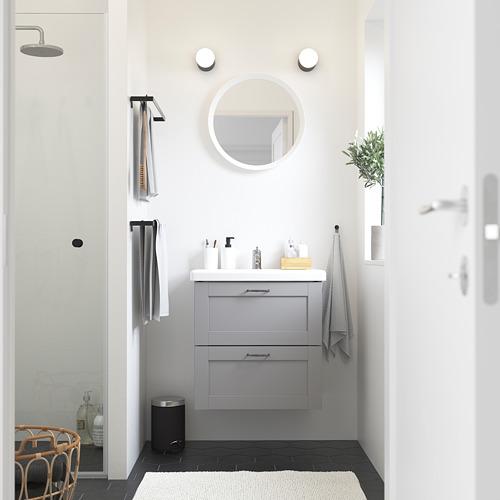 TVÄLLEN/ENHET - 雙抽屜洗手盆櫃, grey frame/grey Lillsvan tap   IKEA 香港及澳門 - PE785844_S4