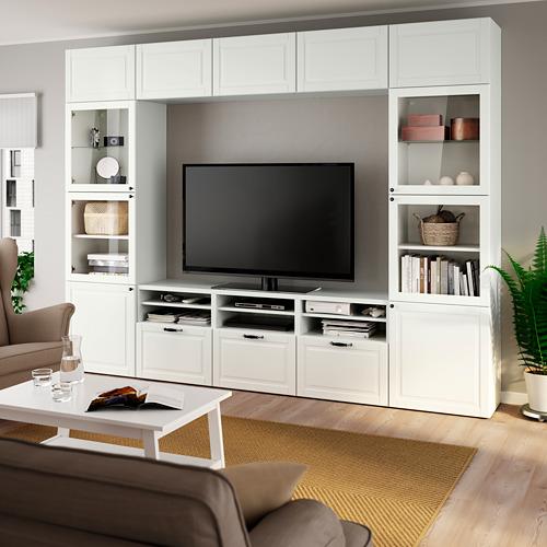 BESTÅ - TV storage combination/glass doors, white Smeviken/Ostvik white clear glass | IKEA Hong Kong and Macau - PE785879_S4