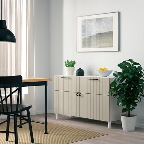 BESTÅ - storage combination w doors/drawers, white/Sutterviken/Kabbarp grey-beige | IKEA Hong Kong and Macau - PE785895_S4