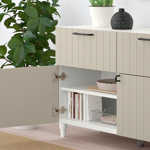 BESTÅ - storage combination w doors/drawers, white/Sutterviken/Kabbarp grey-beige | IKEA Hong Kong and Macau - PE785905_S4