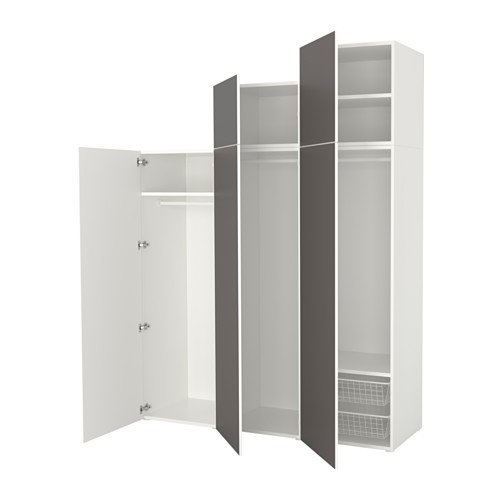 PLATSA - wardrobe, white/Skatval dark grey | IKEA Hong Kong and Macau - PE640738_S4