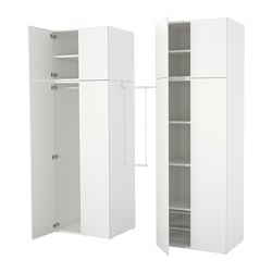 PLATSA - wardrobe, white/Fonnes white | IKEA Hong Kong and Macau - PE640774_S3