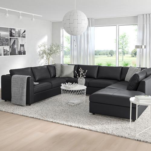 VIMLE - u-shaped sofa, 6 seat, with open end/Grann/Bomstad black | IKEA Hong Kong and Macau - PE774108_S4