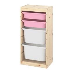 TROFAST - 貯物組合連物盒, light white stained pine pink/white | IKEA 香港及澳門 - PE774121_S3