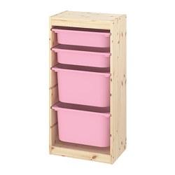 TROFAST - 貯物組合連物盒, light white stained pine/pink | IKEA 香港及澳門 - PE774123_S3