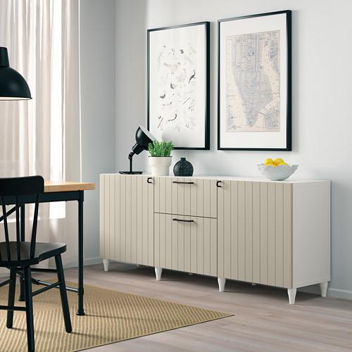 BESTÅ - 貯物組合連抽屜, white/Sutterviken/Kabbarp grey-beige | IKEA 香港及澳門 - PE785943_S4