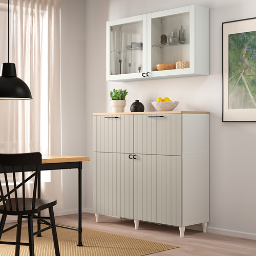 BESTÅ - 貯物組合連門/抽屜, white Sutterviken/Kabbarp/grey-beige clear glass | IKEA 香港及澳門 - PE785955_S4