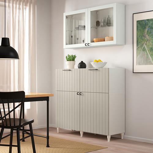 BESTÅ - 貯物組合連門/抽屜, white Sutterviken/Kabbarp/grey-beige clear glass | IKEA 香港及澳門 - PE785956_S4