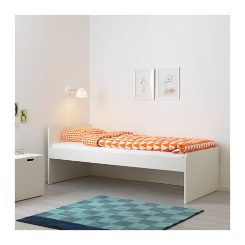 SLÄKT - bed frame with slatted bed base, white | IKEA Hong Kong and Macau - PE642498_S4