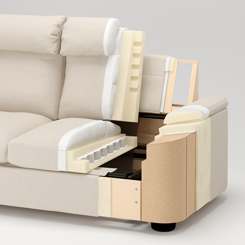 LIDHULT - 2-seat sofa-bed, Gassebol light beige | IKEA Hong Kong and Macau - PE731382_S4