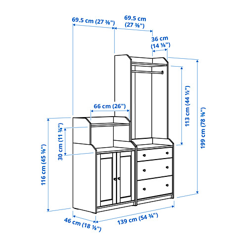 HAUGA - storage combination, white | IKEA Hong Kong and Macau - PE786011_S4