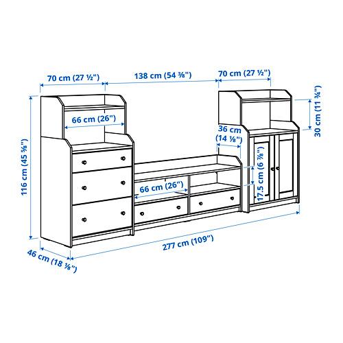HAUGA - TV/storage combination, beige | IKEA Hong Kong and Macau - PE785985_S4