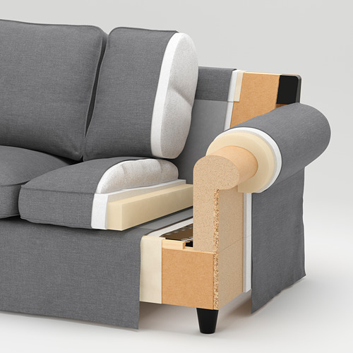 EKTORP 3-seat sofa with chaise longue