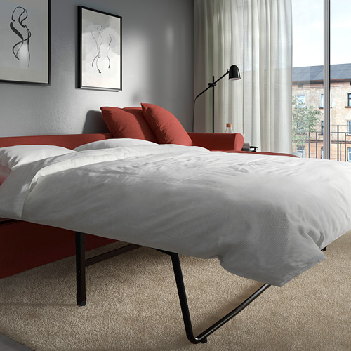 GRÖNLID - 3-seat sofa-bed, with chaise longue/Ljungen light red | IKEA Hong Kong and Macau - PE786022_S4