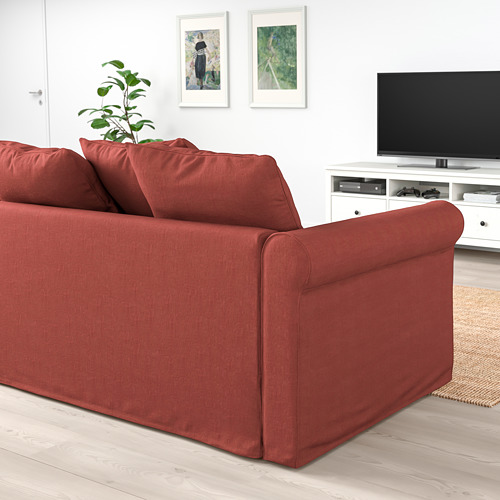 GRÖNLID - 3-seat sofa-bed, with open end/Ljungen light red | IKEA Hong Kong and Macau - PE786025_S4