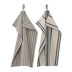 MARIATHERES - tea towel, stripe/grey beige | IKEA Hong Kong and Macau - PE786100_S3