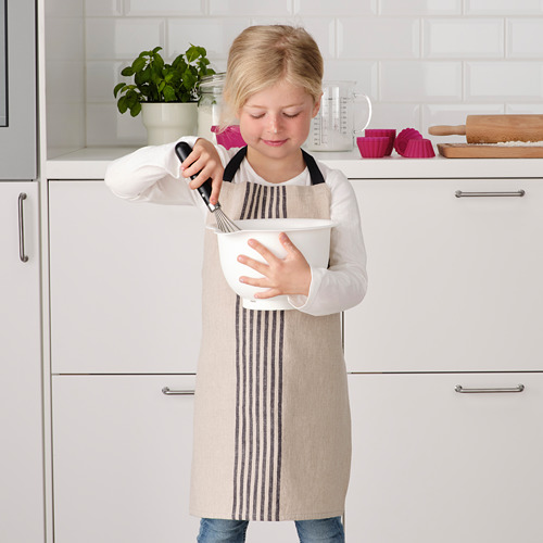 MARIATHERES - 兒童圍裙, 米黃色   IKEA 香港及澳門 - PE786117_S4
