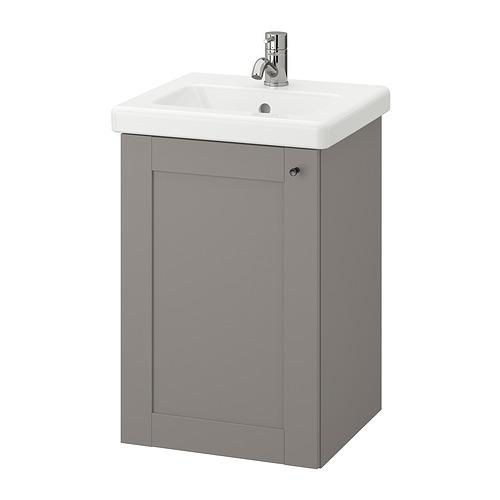 TVÄLLEN/ENHET - 單門洗手盆櫃, grey frame/grey Lillsvan tap | IKEA 香港及澳門 - PE831021_S4