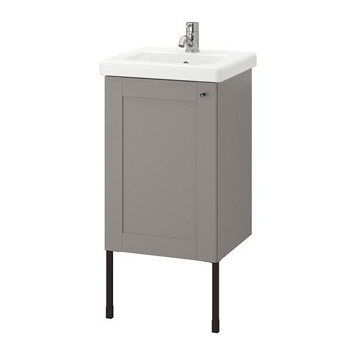 TVÄLLEN/ENHET - 單門洗手盆櫃, grey frame/grey Lillsvan tap   IKEA 香港及澳門 - PE831023_S4