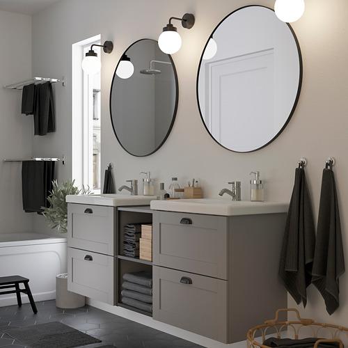 TVÄLLEN/ENHET - 浴室貯物組合 15件裝, 灰色 框架/炭黑色 PILKÅN水龍頭 | IKEA 香港及澳門 - PE831031_S4