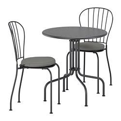 LÄCKÖ - 戶外餐檯椅組合, 灰色/Frösön/Duvholmen 深灰色 | IKEA 香港及澳門 - PE688366_S3