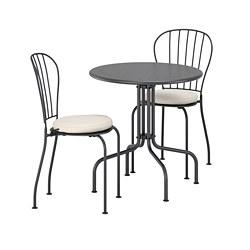 LÄCKÖ - 戶外餐檯椅組合, 灰色/Frösön/Duvholmen 米黃色 | IKEA 香港及澳門 - PE688369_S3