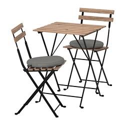 TÄRNÖ - table+2 chairs, outdoor, black/grey-brown stained/Frösön/Duvholmen dark grey | IKEA Hong Kong and Macau - PE688370_S3
