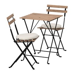 TÄRNÖ - 戶外餐檯椅組合, 黑色/染灰褐色/Frösön/Duvholmen 米黃色 | IKEA 香港及澳門 - PE688373_S3