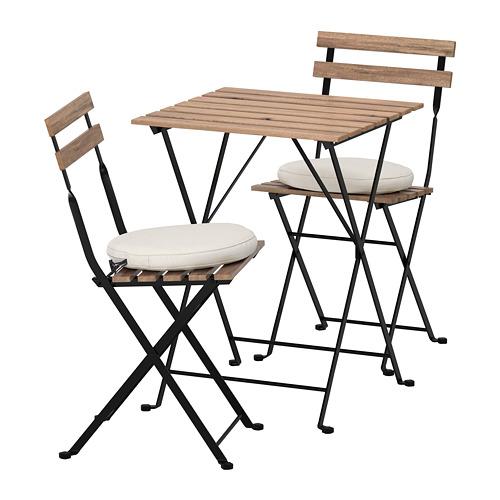 TÄRNÖ - table+2 chairs, outdoor, black/grey-brown stained/Frösön/Duvholmen beige | IKEA Hong Kong and Macau - PE688373_S4
