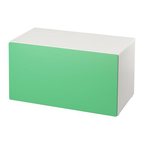 SMÅSTAD - 貯物式長几, 白色/綠色 | IKEA 香港及澳門 - PE786137_S4
