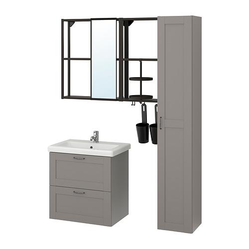 TVÄLLEN/ENHET - 浴室貯物組合 18件裝, grey frame/anthracite Pilkån tap | IKEA 香港及澳門 - PE831081_S4