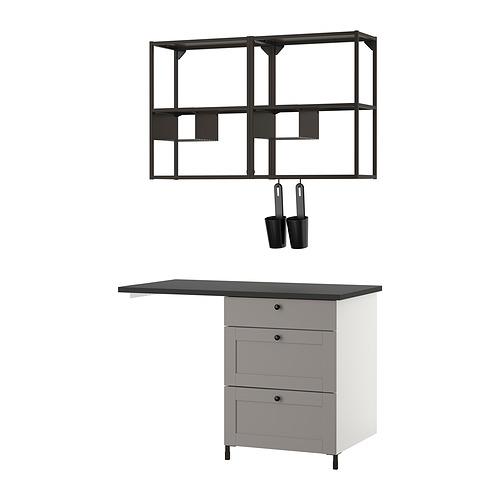 ENHET - 上牆式貯物架組合, anthracite/grey frame   IKEA 香港及澳門 - PE831105_S4