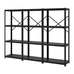 BROR - 層架組合, 254x40x190 cm, 黑色 | IKEA 香港及澳門 - PE688412_S3