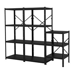 BROR - 貯物組合, 234x55x190 cm, 黑色   IKEA 香港及澳門 - PE688419_S3