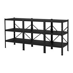 BROR - 貯物組合, 234x55x110 cm, 黑色   IKEA 香港及澳門 - PE688434_S3