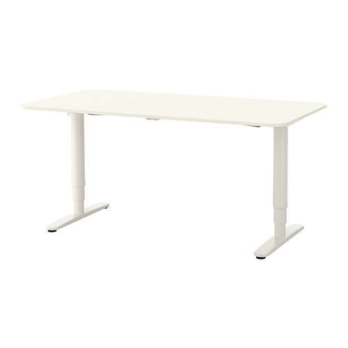 BEKANT - 升降式書檯, 160x80cm, 白色 | IKEA 香港及澳門 - PE688409_S4