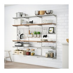 KUNGSFORS - suspension rail with shelf/wll grid, stainless steel/ash | IKEA Hong Kong and Macau - PE688443_S3