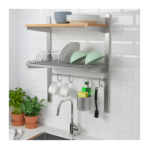 KUNGSFORS - susp rail w shelf/rail/dish dra, stainless steel/ash | IKEA Hong Kong and Macau - PE688444_S4
