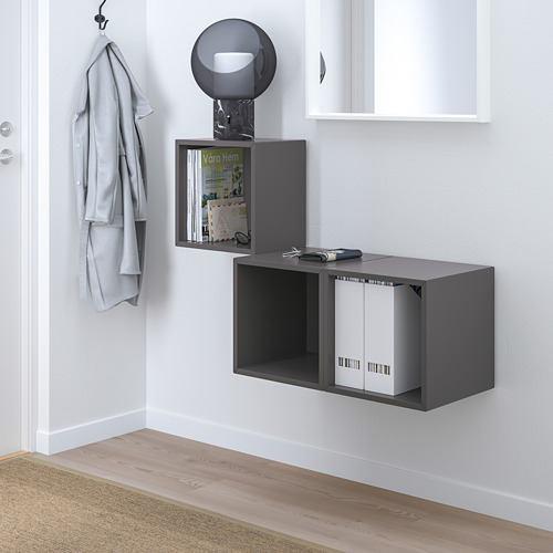 EKET - wall-mounted cabinet combination, dark grey | IKEA Hong Kong and Macau - PE731497_S4