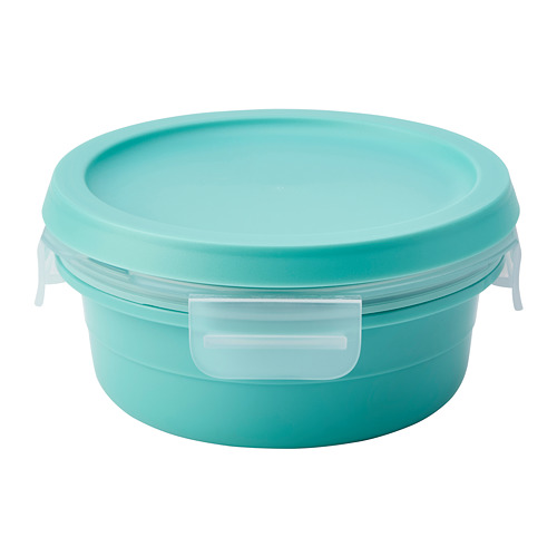 IKEA 365+ - lunch box with dry food compartment, round turquoise, 450ml | IKEA Hong Kong and Macau - PE786153_S4