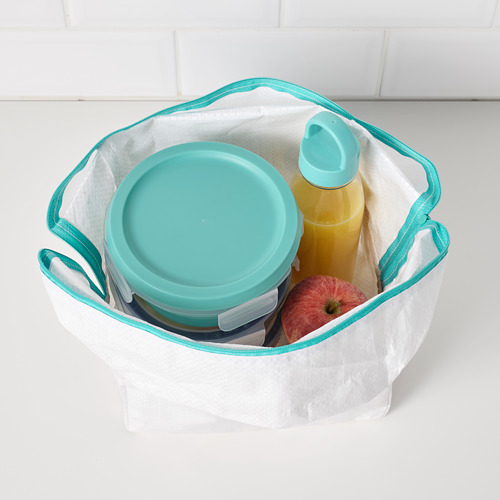 IKEA 365+ - lunch box with dry food compartment, round turquoise, 450ml | IKEA Hong Kong and Macau - PE786154_S4