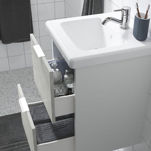 TVÄLLEN/ENHET - 雙抽屜洗手盆櫃, 仿混凝土/白色 PILKÅN水龍頭 | IKEA 香港及澳門 - PE786170_S4