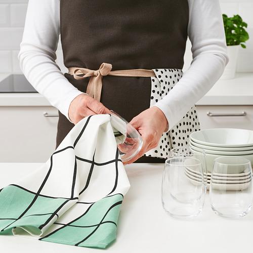 RINNIG - 抹布, 白色/綠色/圖案 | IKEA 香港及澳門 - PE786442_S4