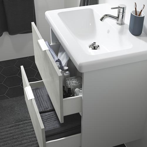 TVÄLLEN/ENHET - wash-stand with 2 drawers, concrete effect/white Pilkån tap | IKEA Hong Kong and Macau - PE786176_S4