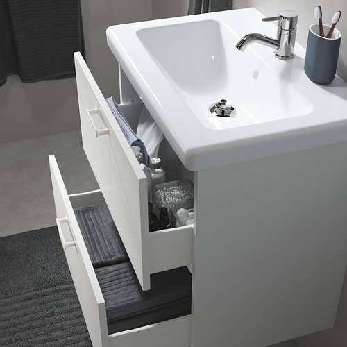 TVÄLLEN/ENHET - 雙抽屜洗手盆櫃, white/Pilkån tap   IKEA 香港及澳門 - PE786178_S4