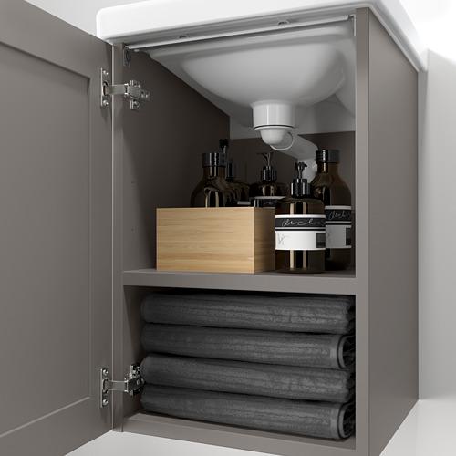 TVÄLLEN/ENHET - 單門洗手盆櫃, grey frame/grey Lillsvan tap | IKEA 香港及澳門 - PE786193_S4