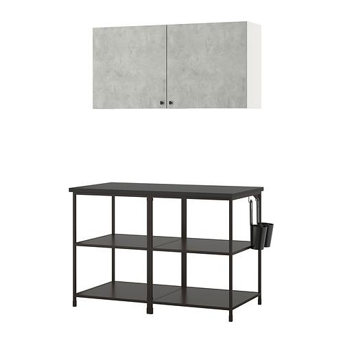 ENHET - 上牆式貯物架組合, anthracite/concrete effect   IKEA 香港及澳門 - PE831127_S4