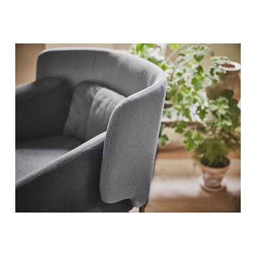 BINGSTA - 扶手椅, Vissle 深灰色/Kabusa 深灰色 | IKEA 香港及澳門 - PH167581_S4