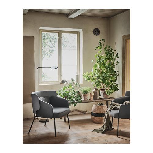 BINGSTA - 扶手椅, Vissle 深灰色/Kabusa 深灰色 | IKEA 香港及澳門 - PH167582_S4
